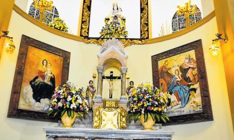 Altar de la Parroquia Nuestra Señora del Carmen, en el norte de Barranquilla