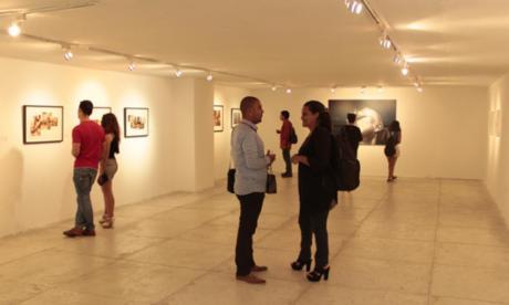 Sala de exhibición en el Museo de Arte Moderno de Barranquilla.
