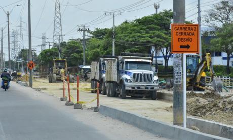 Uno de los tramos de la Calle 30 que están siendo intervenidos dentro de las obras del Distrito.