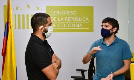 El alcalde Jaime Pumarejo y el senador Arturo Char.