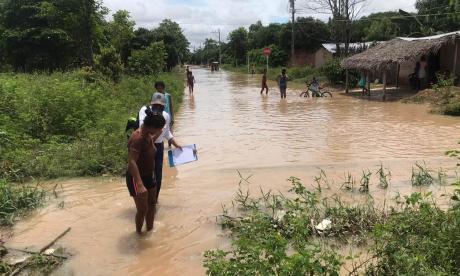 Tras fuertes aguaceros, declaran calamidad pública en Chiriguaná