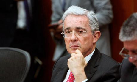 El expresidente Álvaro Uribe, actual senador de la República.