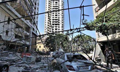 Beirut, entre el dolor, la destrucción y vidrios rotos