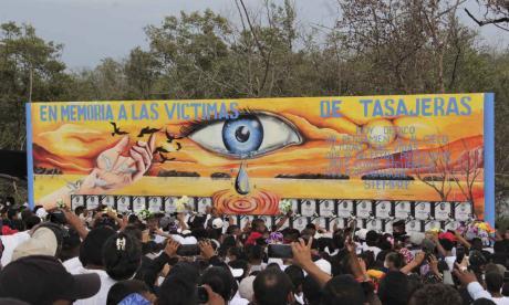 En video | Sentido homenaje a las 45 víctimas de Tasajera