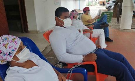 Trabajadores de Valledupar en huelga de hambre para presionar los pagos.