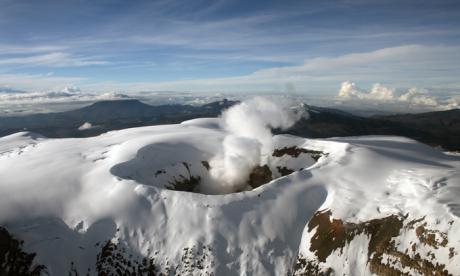 Aumenta actividad sísmica del volcán Nevado del Ruiz