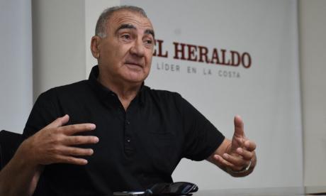 Miguel Ángel 'Zurdo' López en una de sus tantas visitas a EL HERALDO.