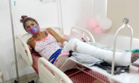 Joven en Riohacha está a punto de perder una pierna por un balazo