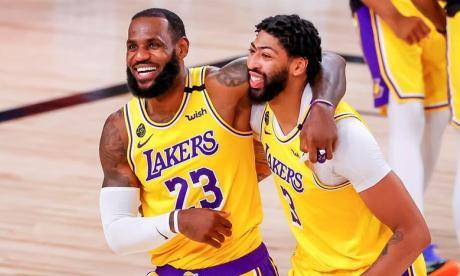 LeBron James y Anthony Davis, los pilares de los Lakers esta temporada.