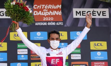 Daniel Martínez celebra una de las victorias más importantes de su carrera.
