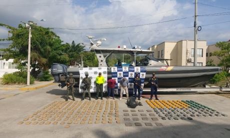 Incautaron más de 200 kilos de droga en una casa en Santa Marta