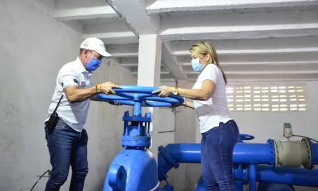 Entran en servicio 3 tanques de agua para el beneficio de 60 mil samarios