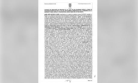 Así es el contrato entre Reyes y el gobierno Santos