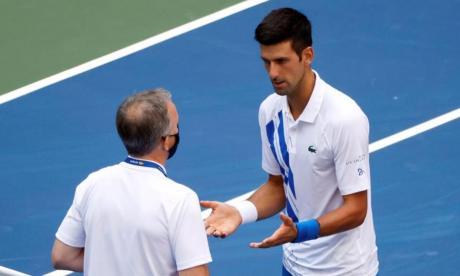 Djokovic, sancionado con pérdida de puntos y dinero conseguido en el US Open