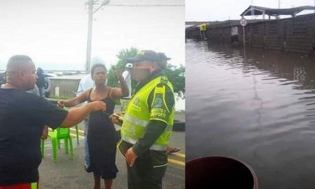 Bloquearon la Troncal del Caribe en Tasajera tras inundaciones por aguacero