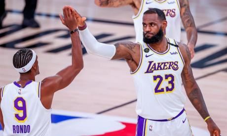 Lebron, con marca, y Rondo ponen a los Lakers con ventaja ante Rockets