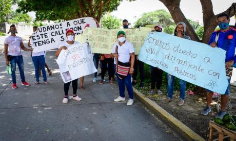 Protesta por inundación de 30 viviendas en La Playa