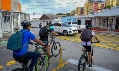 En Barranquilla habilitan nuevos kilómetros de bicirrutas