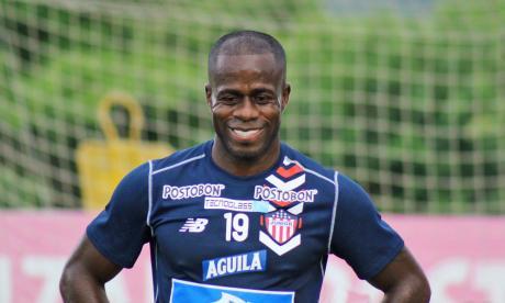 Carmelo Valencia viene de marcarle tres goles al Independiente del Valle por la cuarta fecha de la Libertadores.