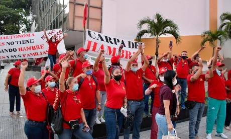 En video | Sindicato de la UAC levanta 'carpa del hambre'
