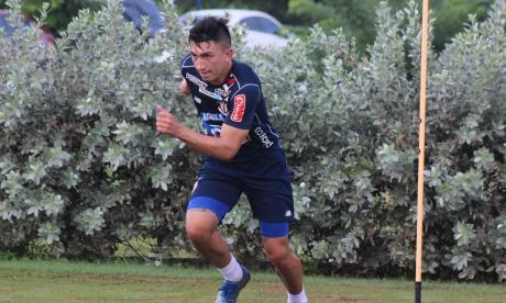 Fabián Ángel, uno de los convocados de Junior para el partido frente a Patriotas.