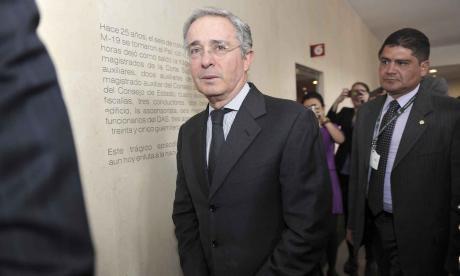 Álvaro Uribe, exsenador del Centro Democrático y ex presidente de la República.