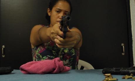 Yeslie Hernández, en una de las escenas de la película 'Victoria', que ella protagoniza.
