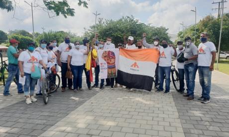 Sindicatos y comunidad marcharon por las calles de Montería
