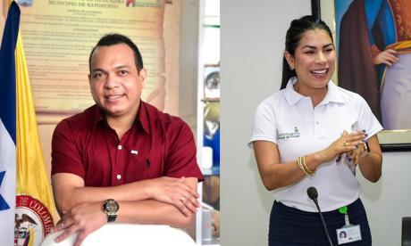 El alcalde Luis Palmezano y su esposa, Sandra Sáenz.