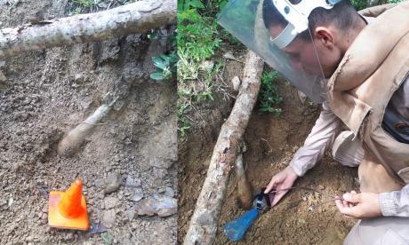 Armada Nacional destruye artefactos explosivos en El Carmen de Bolívar