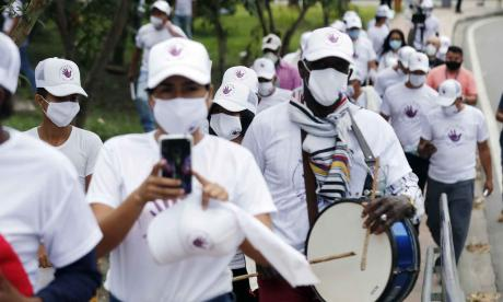 Llegaron a Bogotá los marchantes de las extintas Farc