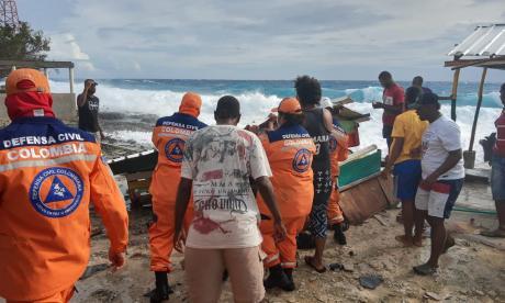Coletazo del Eta en San Andrés deja árboles caídos y viviendas destruidas