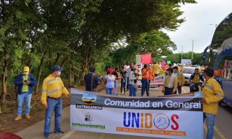 Con marcha, trabajadores de Prodeco exigen reactivación de las minas en Cesar