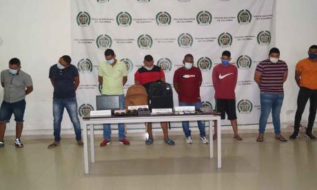 Policía de Montería desmantela supuesta banda dedicada a cometer hurtos