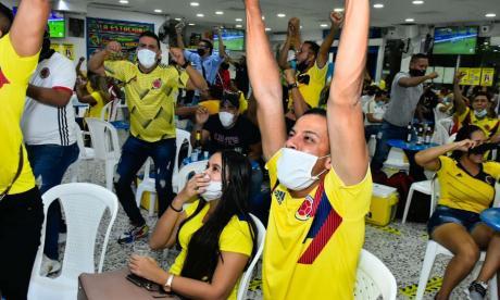 Marca personal al Covid con operativos durante partido Colombia vs. Uruguay