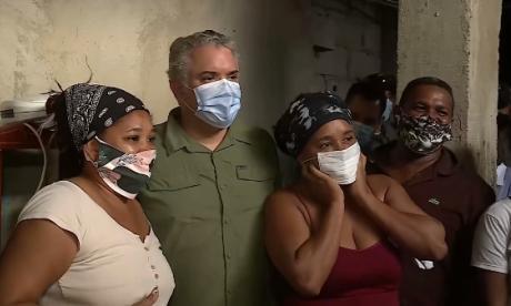 En video   Duque visita zonas afectadas por Iota en Cartagena