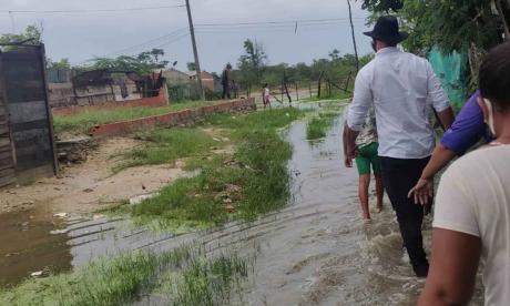 Atienden emergencia en Palermo por lluvias y desbordamiento del caño
