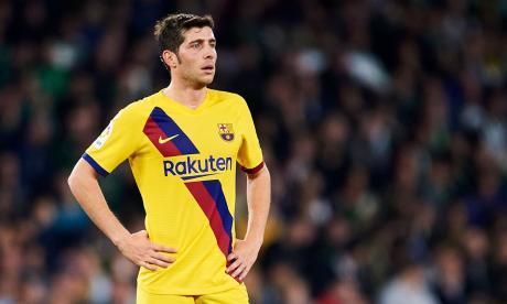 La baja de Sergi Roberto se suma a las ausencias de Piqué, Umtiti, Araujo y Busquets.