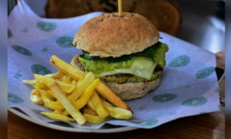 Una hamburguesa saludable al estilo 'Hulk'