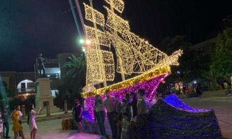 Riohacha estrena iluminación navideña