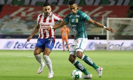William Tesillo durante el juego de la semifinal frente a Chivas de Guadalajara.