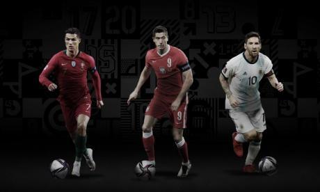 Messi, Cristiano Ronaldo y Lewandowski, finalistas al premio The Best
