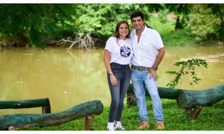 Silvana Borrero y Eduardo Puello: una unión 'verde'  y aventurera