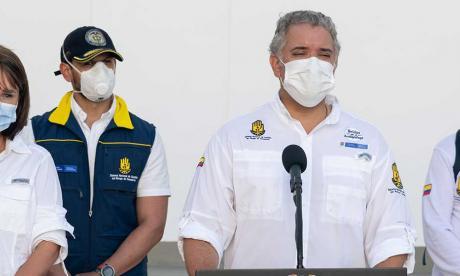 Presidente Duque inspecciona avances en la reconstrucción de San Andrés