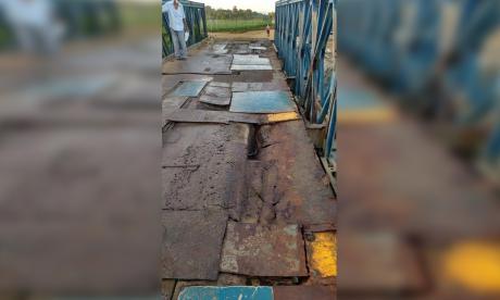 El puente Pechelín, en Sucre, se cae a pedazos