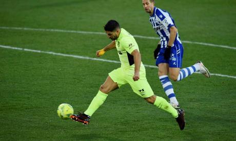 El delantero uruguayo le dio el triunfo al Atlético de Madrid en el minuto 90.