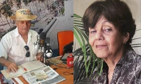 Los periodistas Enrique Herrera y Dilia Gnecco.