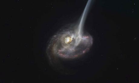 Captan por primera vez el comienzo del fin de una galaxia lejana