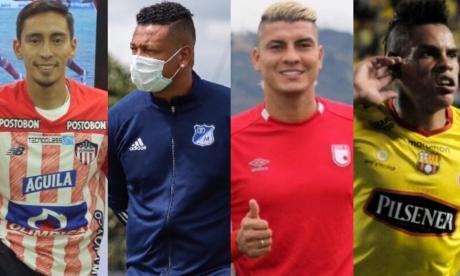 Fabián Zanbueza (Junior), Freddy Guarín (Millonarios), Michael Rangel (Santa Fe) y Jonatan Álvez (Nacional), cuatro de los grandes movimientos del FPC.
