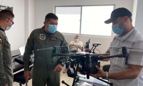 Refuerzan seguridad en Galapa con drones de última tecnología